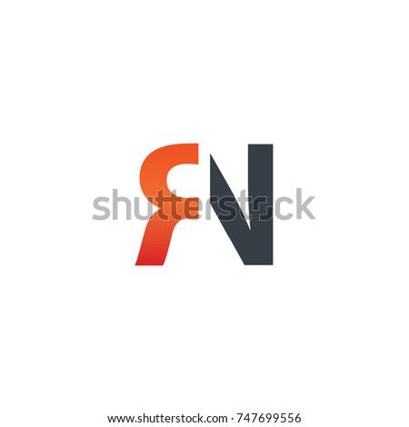 Initial letter rn design logo stock vector royalty free 747699556 initial letter rn design logo altavistaventures Images