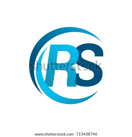 Initial Letter Rs Logotype Company Name Stock Vector Hd Royalty