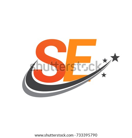 Initial Letter Se Logotype Company Name Stock Vector 733395790