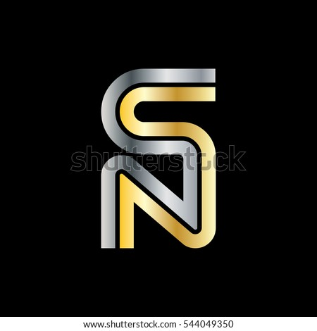 Initial Letter Sn Ns Linked Design Stock Vector Royalty Free