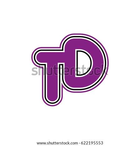 Initial Letter T D Td Monogram Stock Vector 622195553 Shutterstock