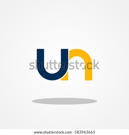Initial letter un lowercase logo design stock vector 583963663 initial letter un lowercase logo design template navy gold spiritdancerdesigns Choice Image