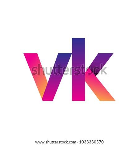 Initial letter vk logo lowercase magenta stock vector 1033330570 initial letter vk logo lowercase magenta and orange modern and simple logo design toneelgroepblik Images