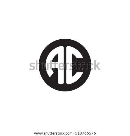 Initial Letters AC Circle Shape Monogram Stock-Vektorgrafik ...