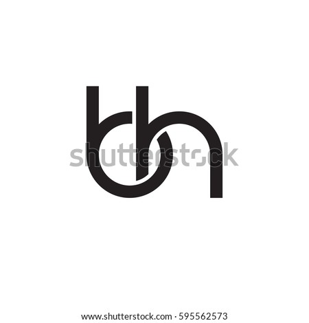 Bh Design initial letters bh linked chain stock photo photo vector