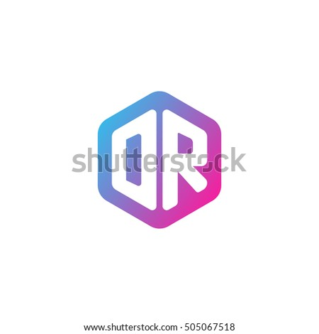 Initial letters dr rounded hexagon shape stock vector 505067518 initial letters dr rounded hexagon shape blue pink purple simple modern logo altavistaventures Image collections