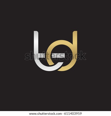Initial Letters Td Round Overlapping Chain Stock Vector 611403959