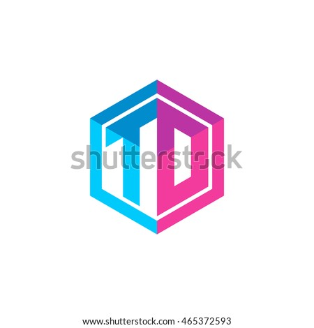 Initial Letters Td To Hexagon Box Stock Vector 465372593 Shutterstock