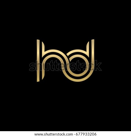 Initial lowercase letter hd linked outline stock vector 677933206 initial lowercase letter hd linked outline rounded logo elegant golden color on black background thecheapjerseys Gallery