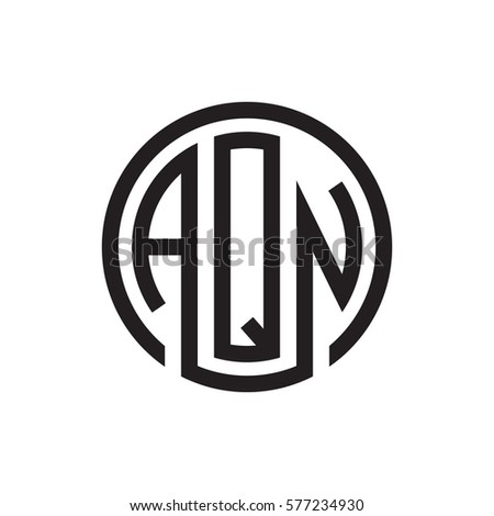 initial three letter logo circle black stock vector royalty free