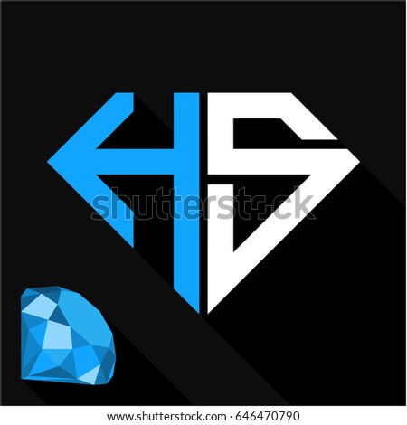 H Letter In Diamond The Name Ruby Stock Im...