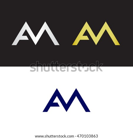 Initials with letter A and letter M
