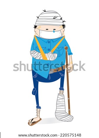 Injuries at work  - stock vector