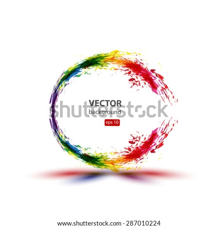 Ink abstract background  easy editable  - stock vector
