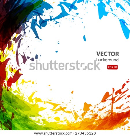 Ink abstract, easy all editable - stock vector