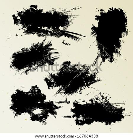 Ink blots - stock vector