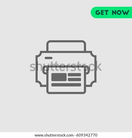 Ink Jet Printer Document Printed Vector Stock Vector 609342770