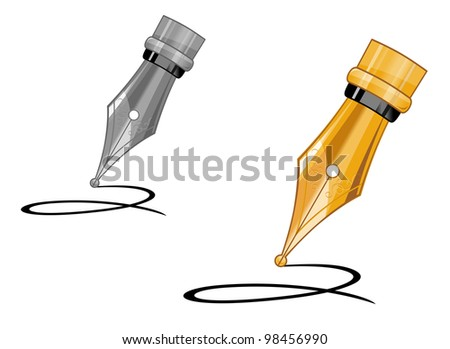 Ink pen writing on paper some notes. Jpeg version also available in gallery - stock vector