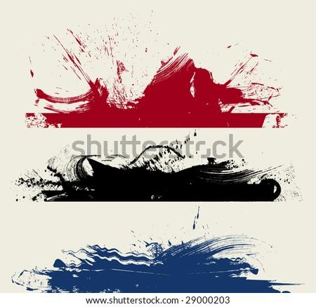 Ink splash background - stock vector