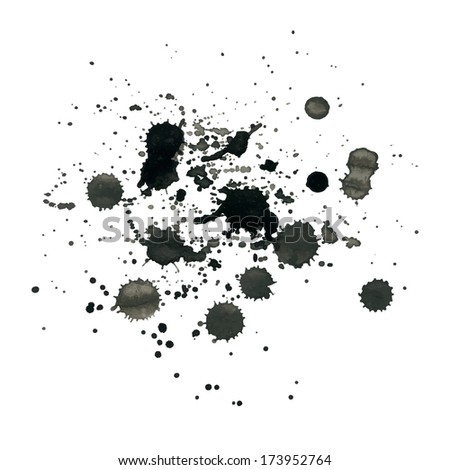 Ink splash for design. Abstract background. - stock vector