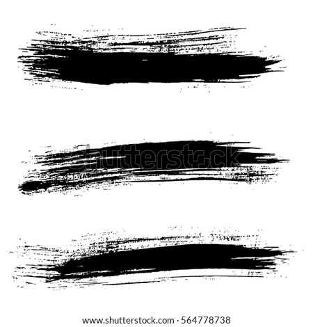 Ink vector brush strokes background. Vector illustration. Grunge texture.