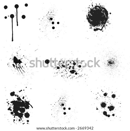 inks splash 3 - stock vector