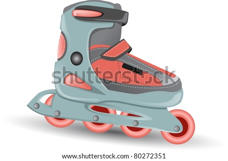 inline skating boot vector detailed - stock vector