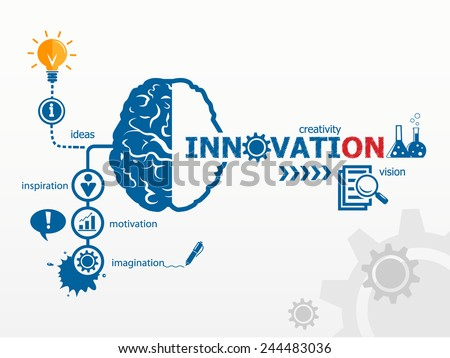 innovation concept creative idea abstract infographic