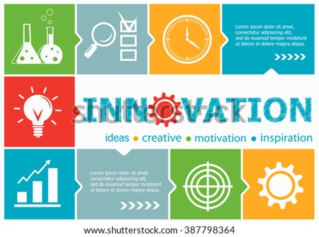 Innovation design illustration concepts for business, consulting, management, career. Innovation concepts for web banner and printed materials. - stock vector