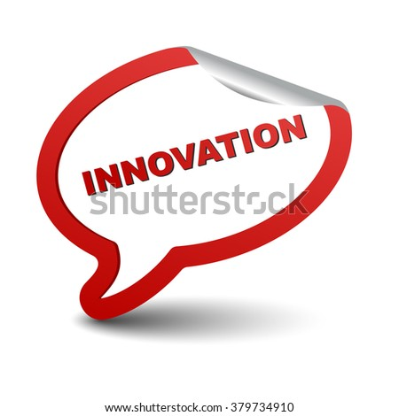 innovation, red vector innovation, red bubble innovation, sticker bubble innovation, element innovation, sign innovation, design innovation, picture innovation, innovation eps10 - stock vector