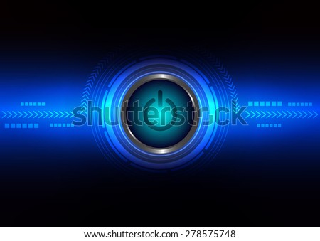 Innovation switch with technology abstract, vector illustration - stock vector