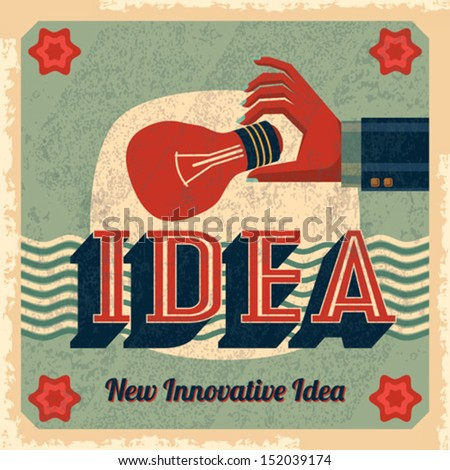 innovative idea vector - stock vector