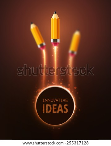 Innovative ideas, concept background, eps 10 - stock vector