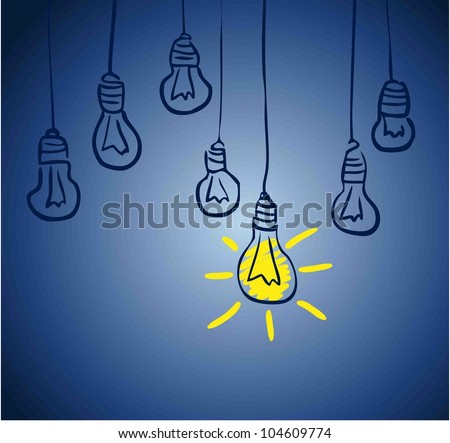 Innovative lamp.  idea concept - stock vector