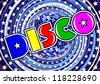 Inscription Disco on the abstract background in vector - stock vector