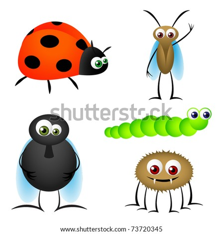 Insect Funny Vector Cartoons