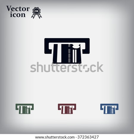 Inserting credit card - vector icon