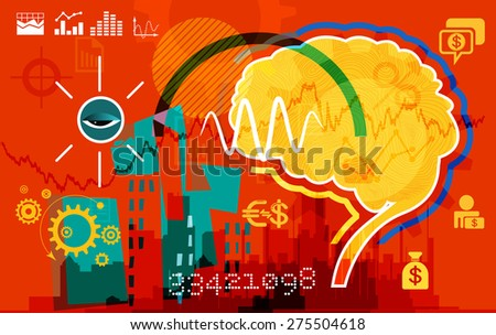 Inside Business Mind - stock vector