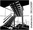Inside Stair Space Vector 02 - stock photo