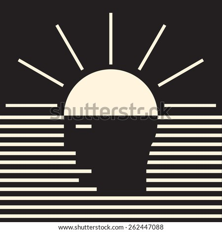 Insight - bright innovative idea coming to mind
