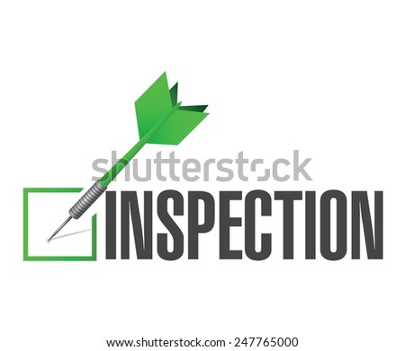 inspection approval check dart illustration design over a white background - stock vector