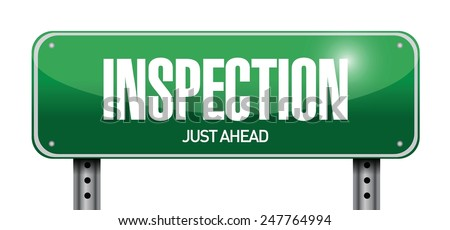 inspection road sign illustration design over a white background - stock vector