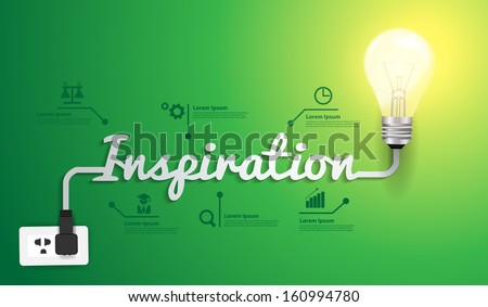 Inspiration concept modern design template, Light bulb idea abstract infographic workflow layout, diagram, step up options, Vector illustration - stock vector