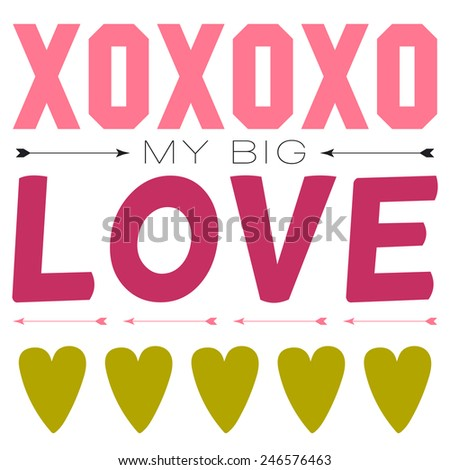 Inspirational Romantic And Love Quote Card For Happy Valentines Day.  Stylish Typographic Poster Template For