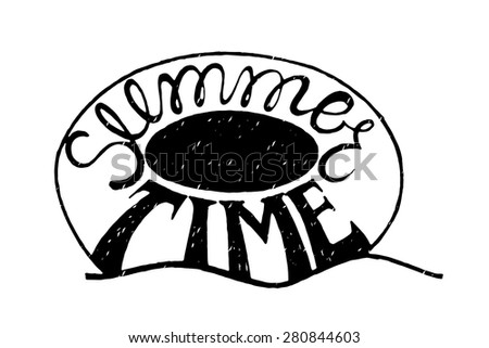 Inspirational vector typography.Hand drawn typography poster.Swimming circle. Summer time. Ring-buoy.