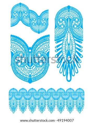Inspired by Henna Tattooing, perfect for Wallpaper, Greeting or textile design. - stock vector