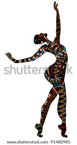 inspired by the person performs a beautiful dance - stock vector
