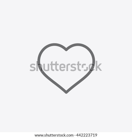 Instagram Like Icon Vector Social Media Stock Vector 442223719