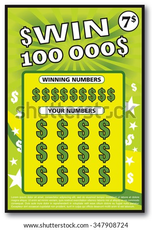 Lottery ticket stock images royalty free images vectors instant lottery ticket scratch off vector illustration no shadow on the vector and lorem ipsum is sciox Images