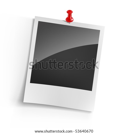 Instant photo - stock vector